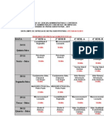 Horario Sub e Exames 2 2011