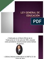 EXPO Ley General de Educación