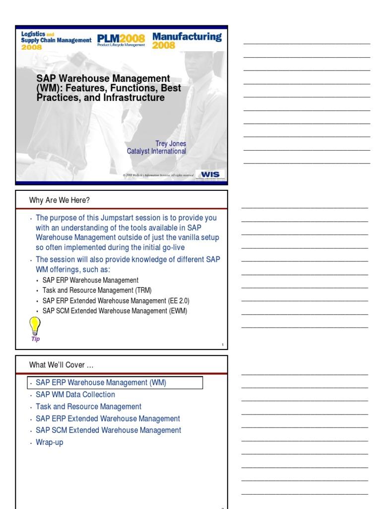 SAP Warehouse Management WM Introduction 26125078 | Warehouse | Web