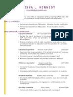 resume - kennedy