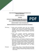 Permendikbud No. 56 Tahun 2011-Juknis DAK Bidang Pendidikan