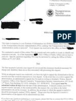 TSA Has No Media Kit Letter
