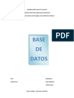 Trabajo Base de Datos