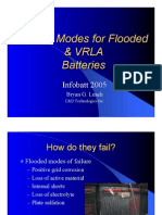 Failure Modes for Flooded & VRLA Batteries