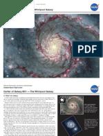 NASA- Center of Galaxy M51 — The Whirlpool Galaxy