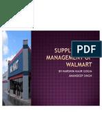 Supply Chain Management of Walmart