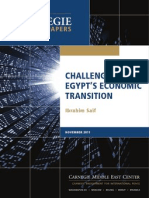 egypt econ transition challenges
