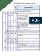 Pu Academic Calendar