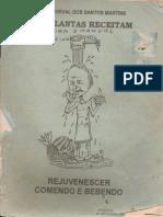 As Plantas Receitam - Rejuvenescer Comendo e Bebendo - Pe. Durval Dos Santos