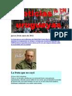 Noticias Uruguayas martes 24 de Enero de 2012