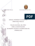 Manual Para La Investigacion de Muerte Violenta o a de Criminal Id Ad