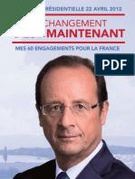 Le programme de François Hollande