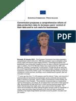 EU Data Protection Reform Press Release 25012012