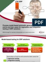 Model-based testing for ERP