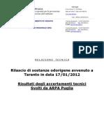 ARPA PUGLIA - TARANTO - ENI - Relazione_odori_17-1-2012