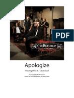 One Republic Apologize