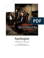 One Republic Apologize