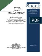 Travel Demand Management Effectiveness Report