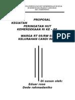 Contoh Proposal Kegiatan HUT RI