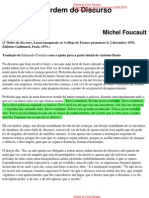 Michel Foucault a Ordem Do Discurso