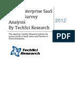 China Enterprise SaaS Market Survey Analysis, 2012