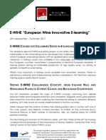 E-WINE Newsletter Issue 6 En