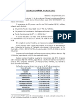 Lei Orçamentária Anual de 2012