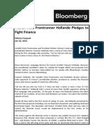 Hollande Pledges to Fight Finance