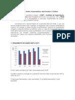 Análise dos dados orçamentários relacionados à Cultura - 2007-11