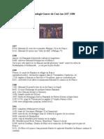 Chronologie de La Guerre de Cent Ans 1337-1380