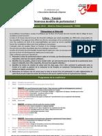 Programme Conférence Tunisie - Libye  Quel nouveau modele de partenariat F