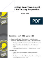 Protecting Your Investment With Refractory Inspection Jim Allen