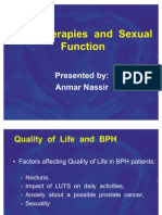 BPH Therapies and Sexual Function