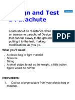 Design and Test a Parachute.