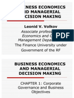 Chapter 1. Corporate Governance and Busines Objectives