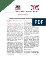 """Report e classifica """"Libertà di stampa 2011-2012"""" - Reporter Senza Frontiere"""