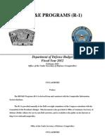 dod FY  2012 r&d budget