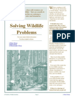 Solving Wildlife Problems