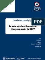 Rapport du Cevipof sur le vote des fonctionnaires