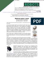 Motores paso a paso - Características básicas - Robots Argentina