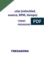 77192644 Formulas Para Torno y Fresadora