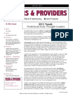 Payers & Providers National Edition – Issue of January 2012