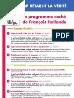 tract - UMP - le programme caché de François Hollande