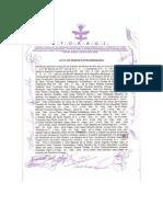 Acta de la destitución de Oscar Augusto Ferraez Lepe