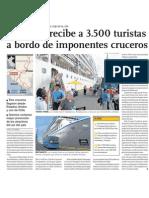 Turismo de Lujo en puerto de Matarani, Arquipa con cruceros y 3,500 turistas abordo.