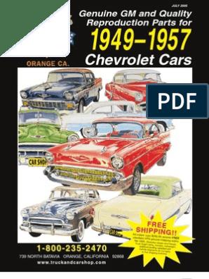 1957 Chevrolet Front Bumper Bracket Outer Perpendicular Left side