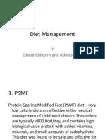 Diet Management Obesity (Cont..)