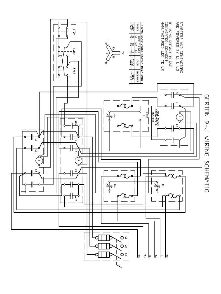 Designing A Rotary Phase Converter Wiring Diagram Best Library Arco Roto Schematic Home Built Gorton 9 J Electrical Engineering Electromagnetism