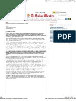 26-01-12 Por sequía, mexicanos en riesgo de hambruna UNAM