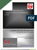 Análisis Plan de Seguridad de la Rectora Ana Rosa Guadalupe - Informe Comité de Seguridad CGE